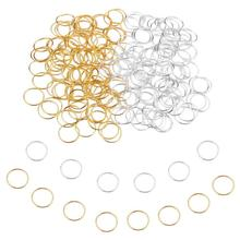 100pcs 14mm Hair Braid Rings Accessories Clips for Women and Girls Dreadlocks Beads Set Color Gold a
