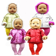 New Winter jacket Fit 17inch 43cm Doll Clothes Born Baby Suit For Baby Birthday Festival Gift