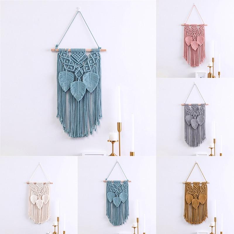 Плетеный настенный гобелен ручной работы в стиле бохо, макраме, хлопковый Свадебный Настенный декор