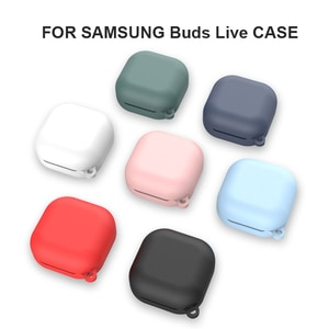 Earphone Case For Samsung Galaxy Buds Live Pure Color TPU Silicone Case For Galaxy Buds Live Bluetooth Wireless Cover Case