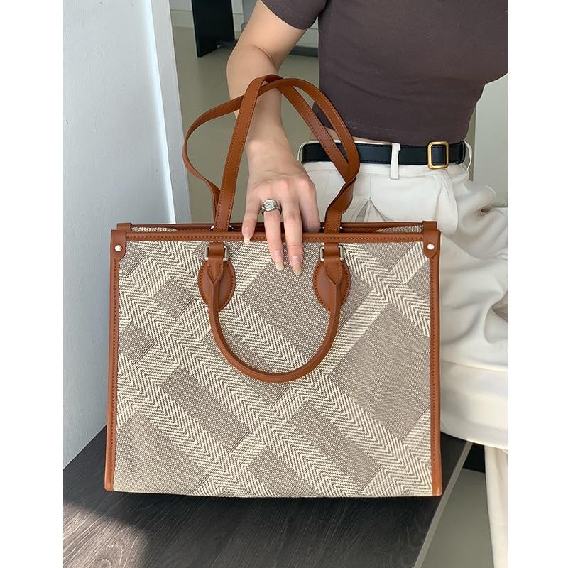 Sets Hand-woven Women Bags Ladies Hand Bag Luxury Handbags Large Capacity Casual Totes Blending Sac A Main Bolsa Feminina