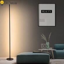 Nowoczesna minimalistyczna lampa LED podłogowa możliwość przyciemniania oświetlenie podłogowe do salonu sypialnia Sofa lampa stojąca wystrój wnętrz oprawy oświetleniowe