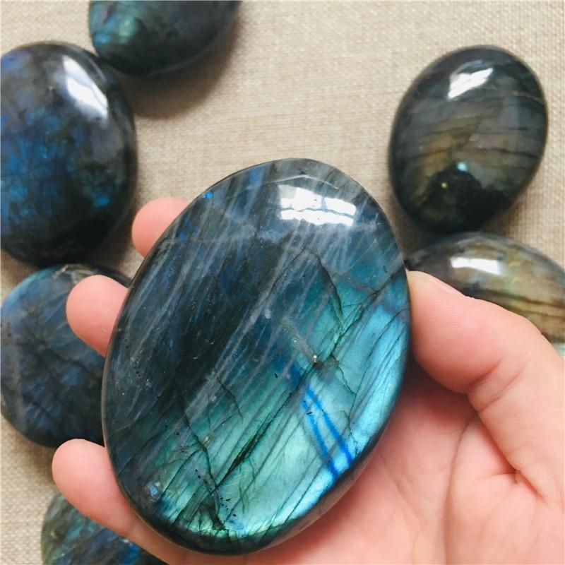 AAA 100-260G Natural blue Rainbow Labradorite Crystal Healing Madagascar