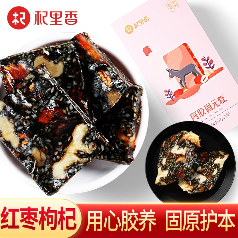 Red Dates Wolfberries Ejiao Cake 300G Ready-to-Eat Women's Handmade Ejiao Gelatin Cake Ejiao Cake Tablets