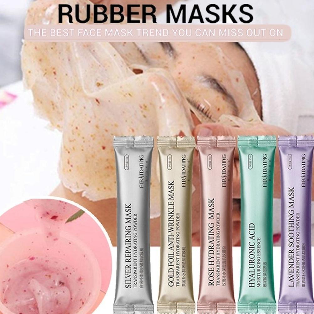 15g DIY Collagen Rose Hyaluronic Acid Soft Powder Face Anti Aging Anti Wrinkle Peel Off Rubber Mask