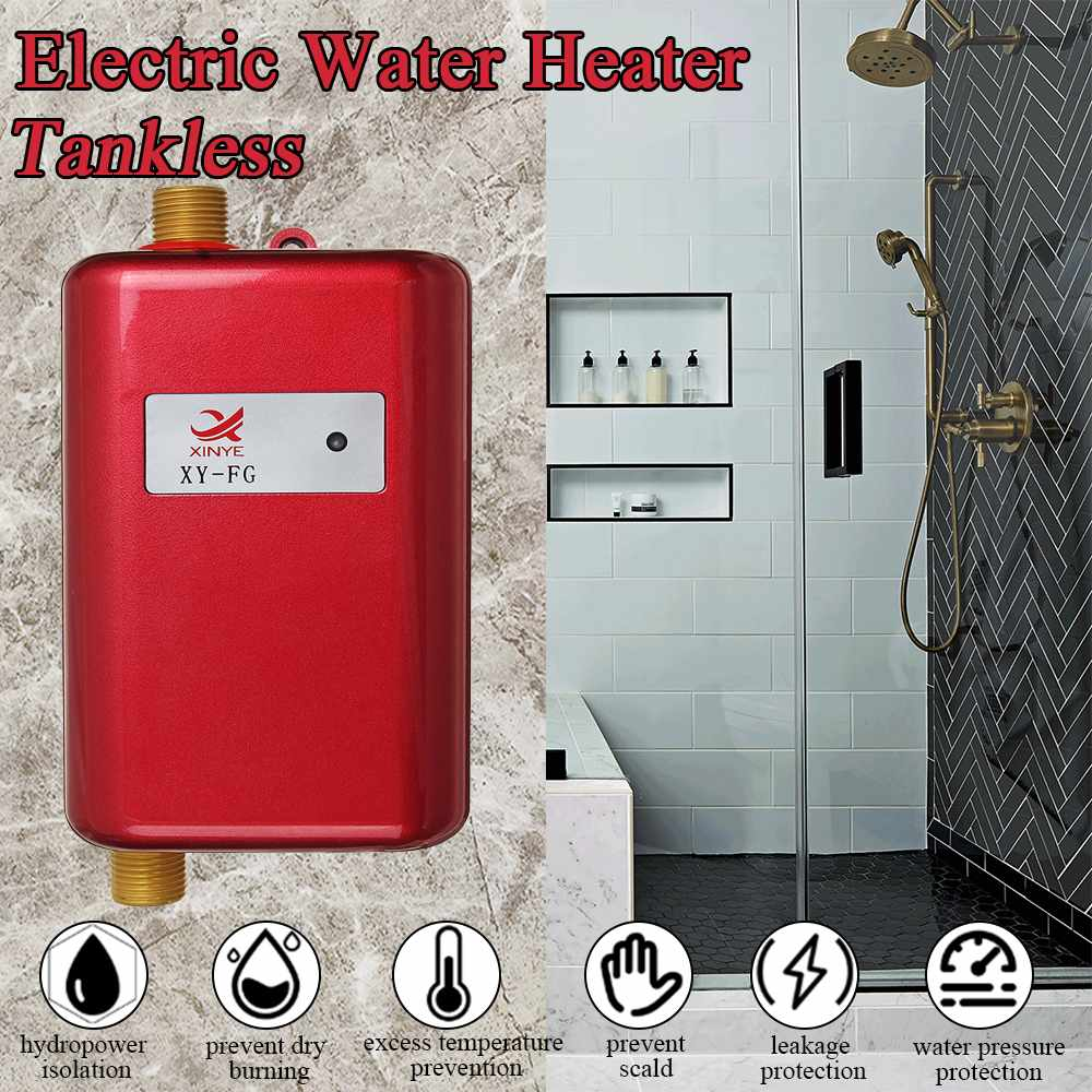 Calentadores de agua eléctricos calientes instantáneos sin tanque calentadores de agua de cocina grifo de exhibición temporal ducha de calefacción universal