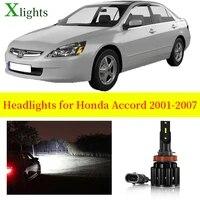 xlights car bulbs for honda accord 2001 2002 2003 2004 2005 2006 2007 led headlight low high beam auto light lamp accessories