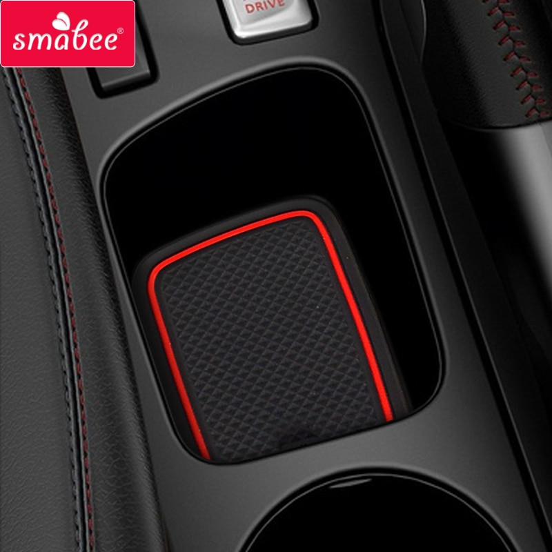 for Renault Clio 4 Anti-Slip Gate Slot Cup Mat Door Groove Non-slip Pad Interior car-styling accesso