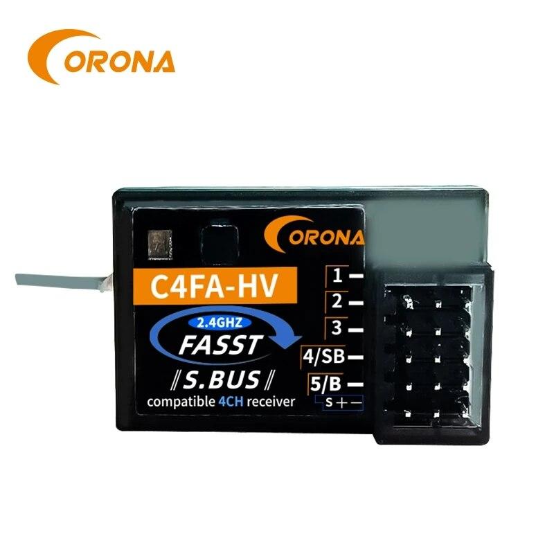 CORONA C4FA-HV 2,4 ГГц SBUS приемник совместимая FUTABA FASST 3PK 4PKS TM7/8/10/14 8FG 10CG 12FG T14SG RC автомобиль приемник для лодки