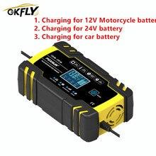 Chargeur automatique de batterie de voiture de fil de démarreur de saut dunités de charge de batterie de voiture 100V-240V à 12V-8A/24V-4A