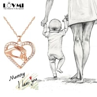 2021 fashion elegant womens 925 sterling silver heart necklace hand in hand rhinestones crystal pendants for mothers day gift