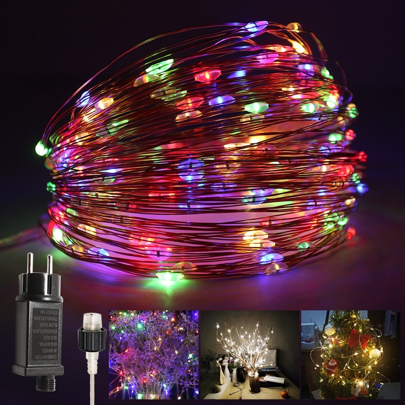 LED String Lights Decor Holiday LightingGarland Fairy Lights New Year lights Outdoor Decorations Tre