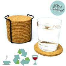 1PC/6pcs/10pcs ordinary round cork coaster coffee coaster drink tea placemat wine table mat Coaster Tea Coffee Mug Drinks Holder