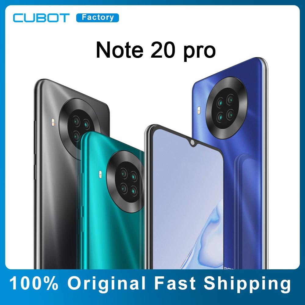6 + 128 ГБ CUBOT Note 20 Pro смартфон 6,5 дюйма HD + дисплей 20 МП четыре камеры 4200 мАч 4G две SIM-карты NFC Android 10