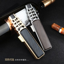 588 gas lighter Long pen cook with creative strong straight straight blue flame cigar wind-proof lig