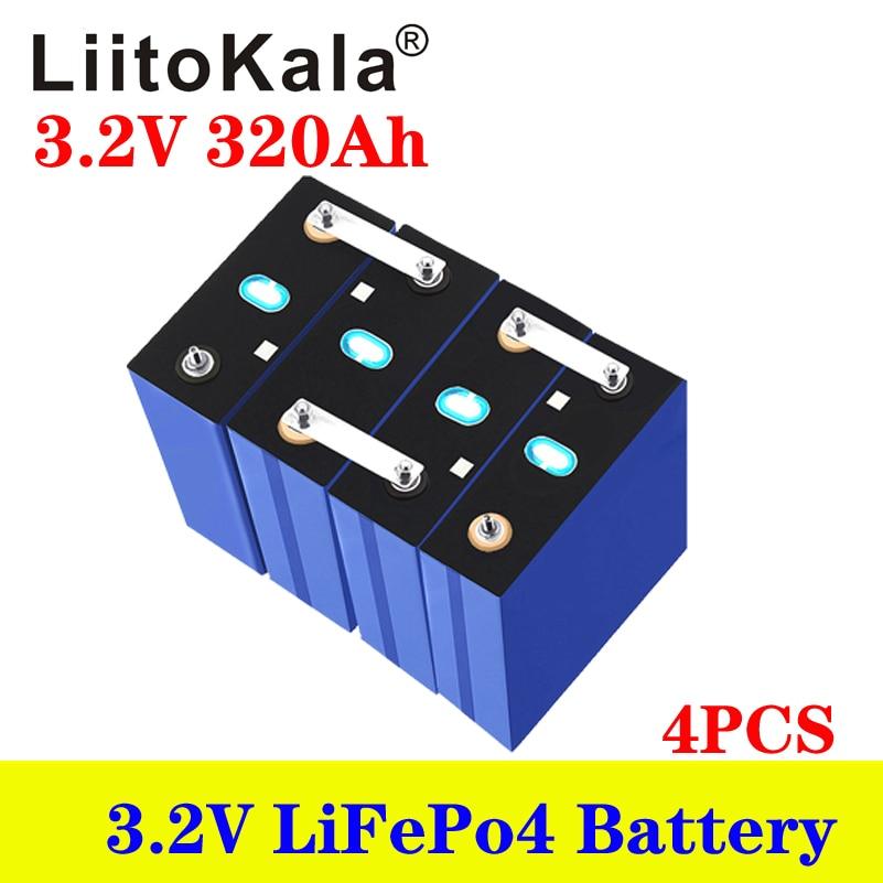 LiitoKala 3.2 فولت 280Ah 320Ah بطارية قابلة للشحن ليثيوم الحديد الفوسفات الخلايا الشمسية 12 فولت 24 فولت 36 فولت الصف أ Lifepo4 خلية معفاة من الضرائب