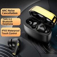 TWS 5,0 Auriculares Bluetooth наушники ANC с шумоподавлением гарнитура водонепроницаемые беспроводные наушники с микрофоном fone de ouvido