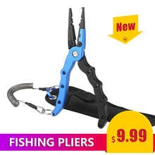 New Design Aluminum Alloy Fishing Pliers Split Ring Cutters heath & fishing lanyard
