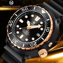 PAGRNE DESIGN New Fashion Men Mechanical Wristwatches Luxurys Sapphire Automatic 300m Waterproof Sta