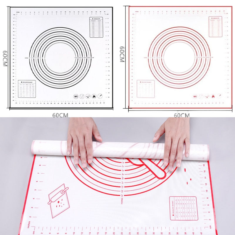 Силиконовый коврик с антипригарным покрытием для замеса теста со шкалой для раскатывания теста кондитерские изделия для торта искусственн...