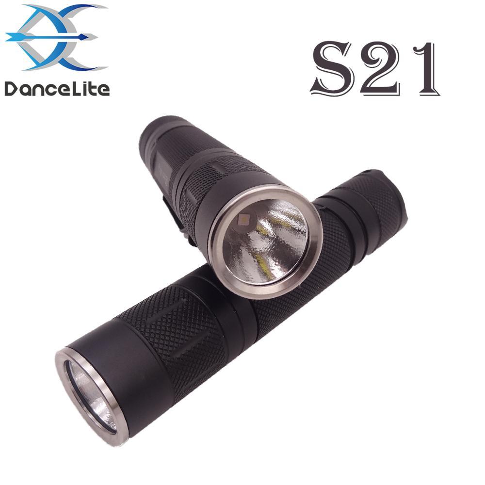 Linterna LED de gran alcance MR S21 KW CSLNM1.TG 10W, batería 21700, 7135x8, enfoque de largo alcance de luz para caza