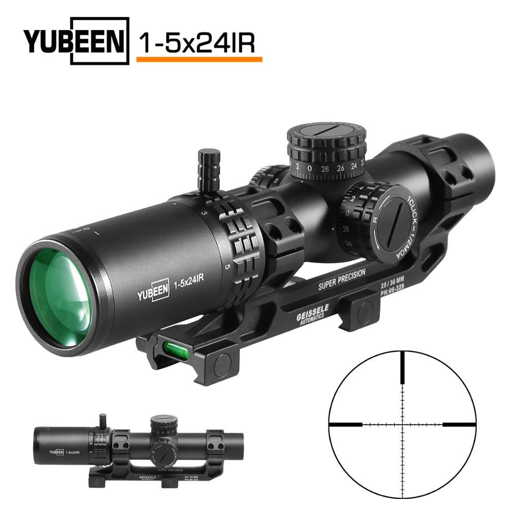 Portée de fusil optique 1-5x24 IR rouge et vert portée de chasse compacte portée de fusil tactique réticule il peut être utilisé pour AR-15