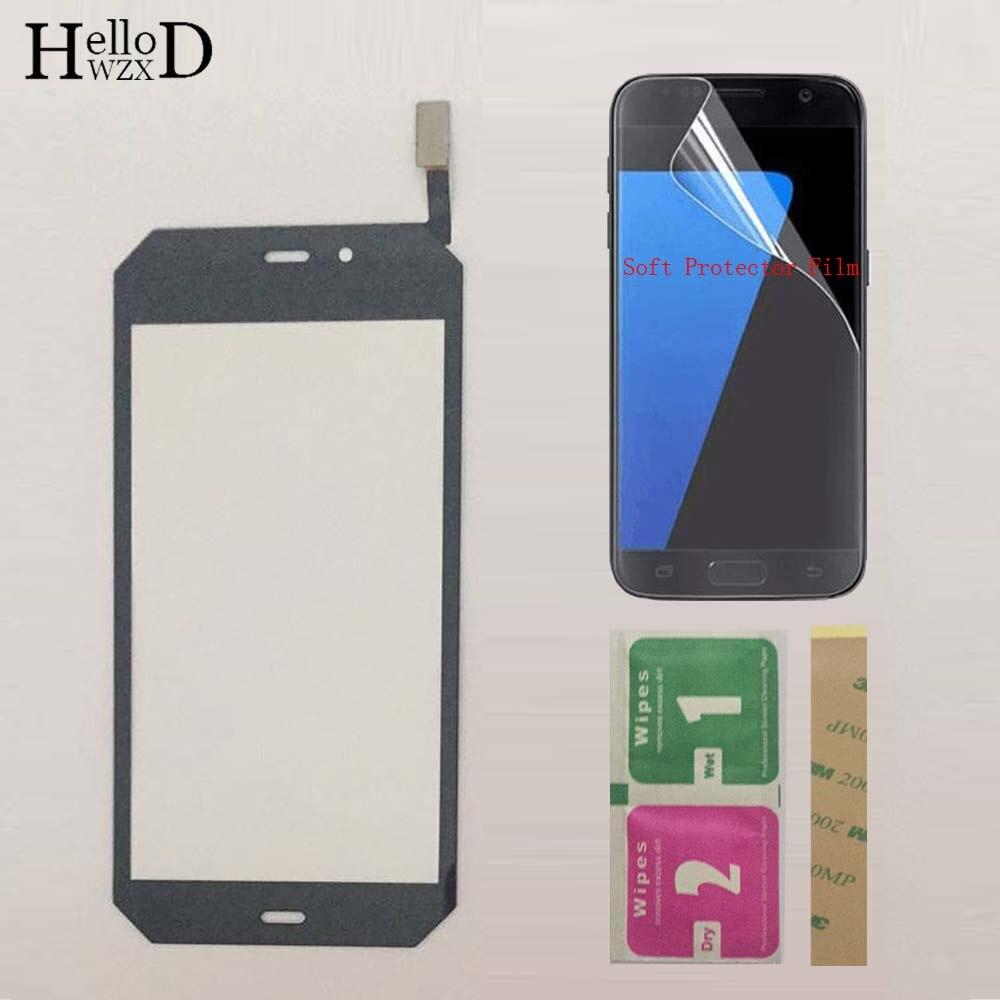 Panel táctil de pantalla táctil móvil para Caterpillar Cat S50, piezas de Panel de Digitalizador de pantalla táctil, cristal frontal con Sensor + película protectora