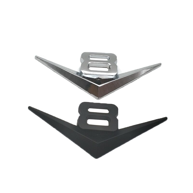 Metal Car Styling V8 Engine Auto Badge Sticker Rear Tailgate Emblem Decal Accessories