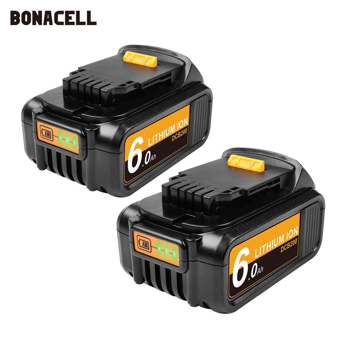 Bonacell 6000mAh 18V/20V XR dla Dewalt akumulator do DCB180 DCB181 DCB182 DCB201 DCB201-2 DCB200 DCB200-2 DCB204-2 L50