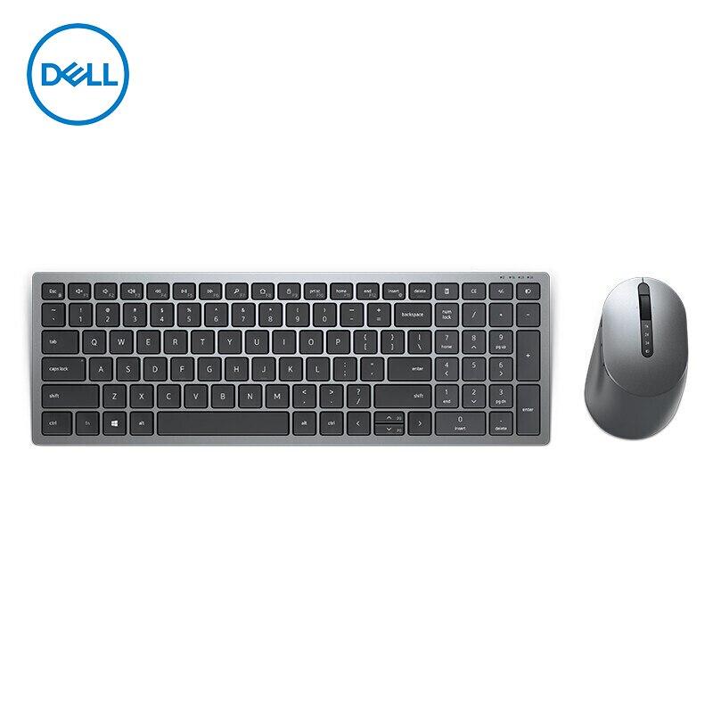 [해외] Dell KM7120W 다중 장치 무선 키보드 및 마우스 콤보 RF 무선 + 블루투스 QWERTY Grey
