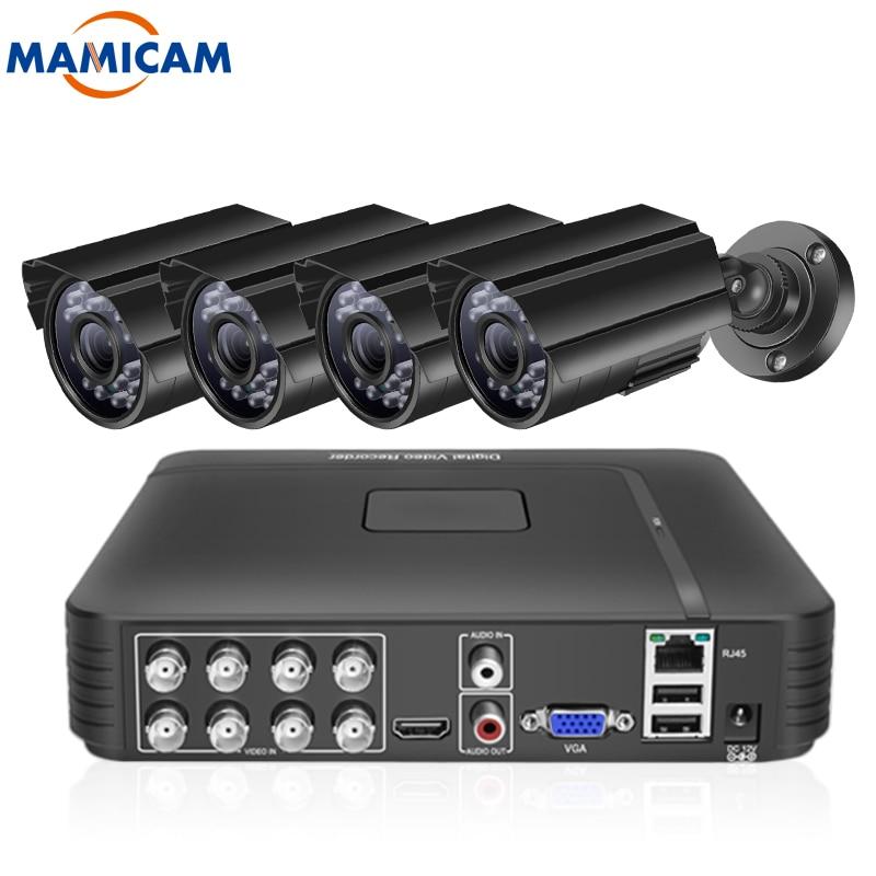 4CH 720P/1080P HD نظام مراقبة بالفيديو HDD DVR عدة المنزل الذكي CCTV كاميرا الأمن في الهواء الطلق IP66 مقاوم للماء للرؤية الليلية