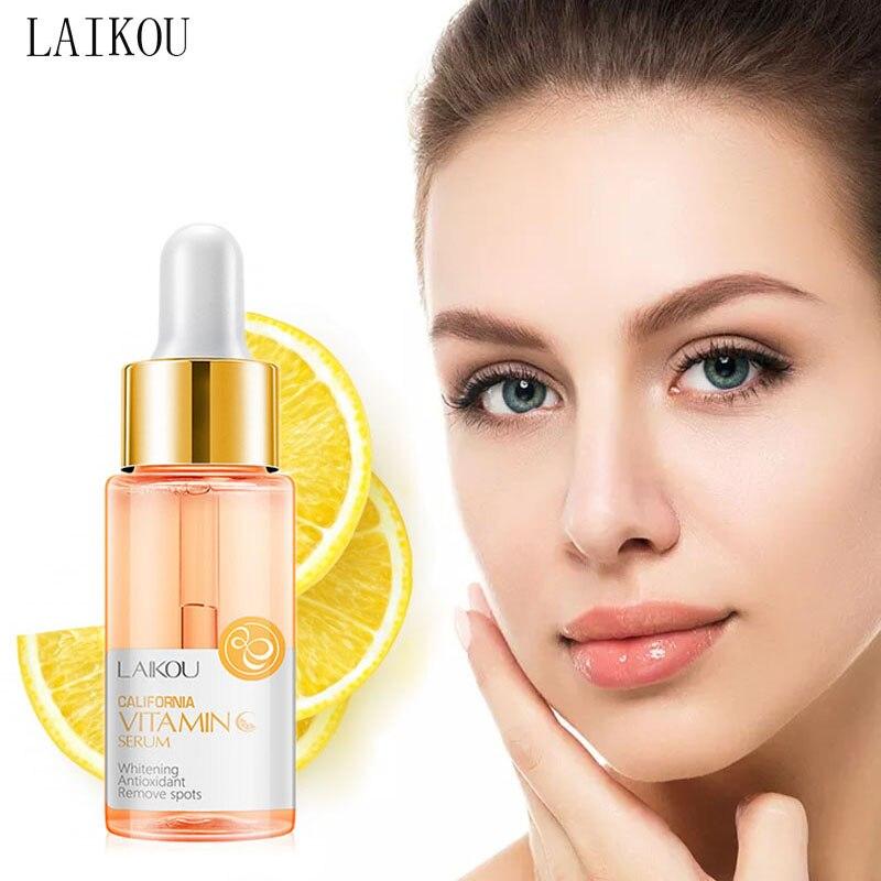 LAIKOU Vitamin C Whitening Face Serum Hyaluronic Acid Moisturizing Acne Removal Anti-wrinkle Anti-Aging Face Essence liquid недорого