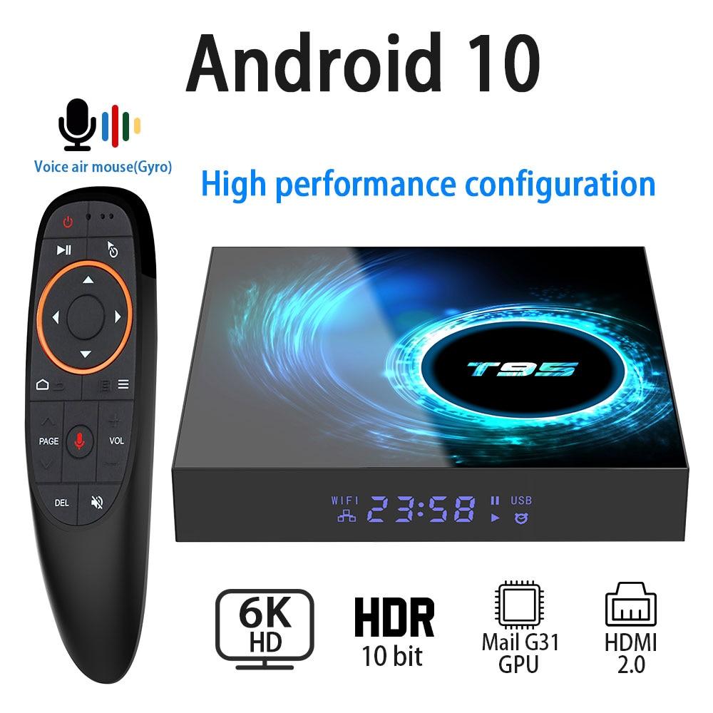 Android 10,0 caja de TV 6K 4K 1080P Youtube, Netflix H616 Quad Core 4GB 32GB 64GB H.265 Wifi 2,4G Set de reproductor multimedia Top Box