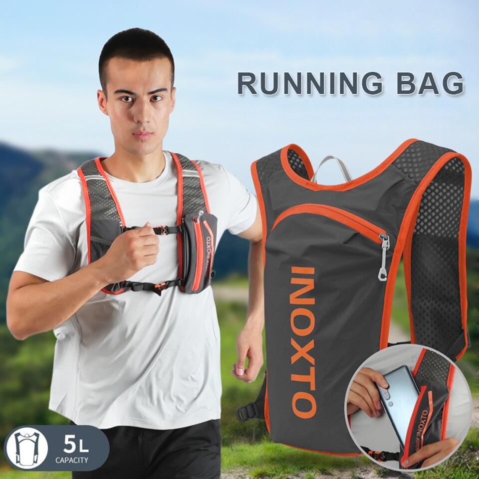 2020 nueva mochila de escalada, mochila para correr, 5L ligera, chaleco de hidratación para exteriores, paquete de bolsas de deporte de ciclismo para senderismo