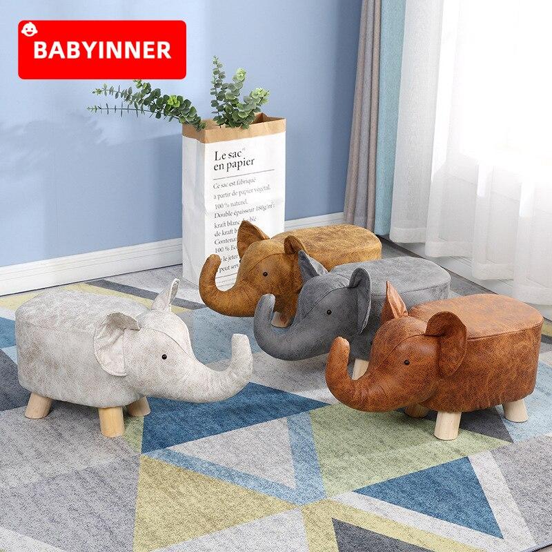 مقعد الطفل الداخلي ، كرسي ربلة الساق للأطفال ، شكل حيوانات كرتونية ، مقعد قدم من الخشب الصلب ، أريكة إبداعية ، مقعد خشبي صغير
