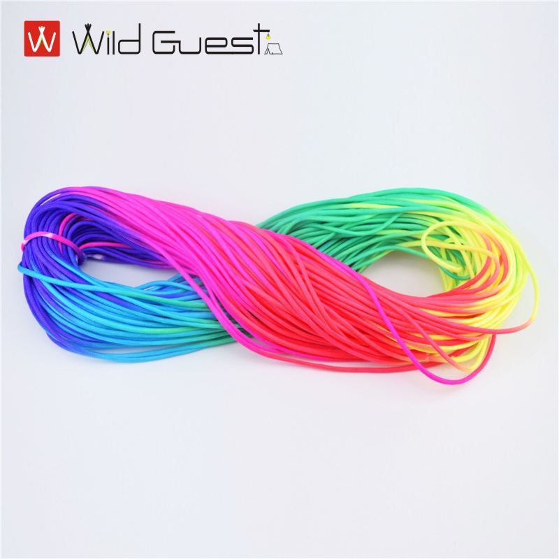 Dia.4mm 7 Stand Cores Paracord Colorful For Survival Parachute Cord Lanyard Camping Climbing Camping Rope Hiking Clothesline 5 meters dia 4mm 7 stand cores paracord for survival parachute cord lanyard camping climbing camping rope hiking clothesline