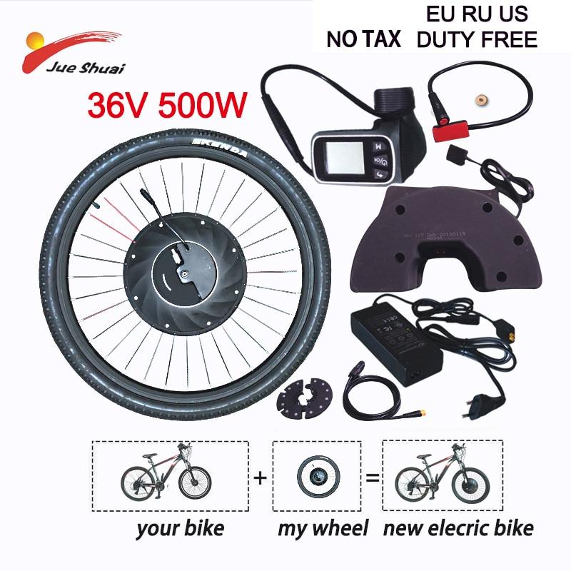 IMortor مجموعة تحويل الدراجة العاديّة إلى كهربائيّة 36 فولت 500 واط محرك بعيد مسافة فرش ترس محور موتور عجلة دراجة نارية Ebike طقم متب