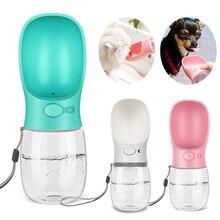 Butelka na wodę dla psa, 350ml składany pijący, przenośna plastikowa butelka na wodę dla zwierząt domowych, miseczka na wodę do picia na zewnątrz