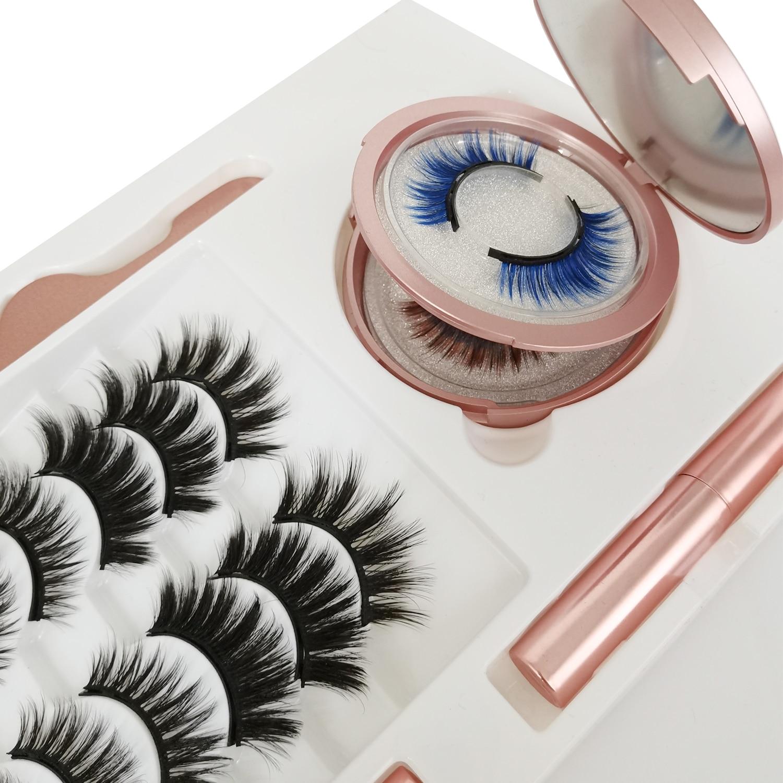 10 Pairs  25 mm Magnet Lashes Magnetic Eyelashes 3D False Mink Eyelashes Magnetic Reusable Liquid Eyeliner& &Tweezer Set недорого