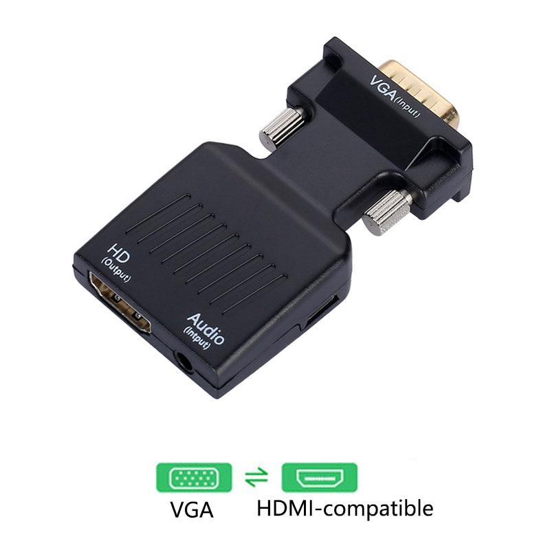 Adaptador convertidor VGA a HDMI, Compatible con 1080P, VGA, HDMI, para PC,...