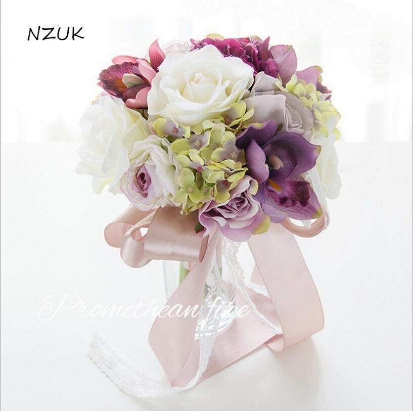 Ramo De novia ramo De novia decoración Artificial De Mariage rubor Rosa Flores SPH015