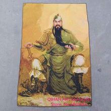 Guan yu guan yun chang guan gong wu el Dios de la riqueza guan shengdi thangka tapicería de seda de oro de bordado de algodón