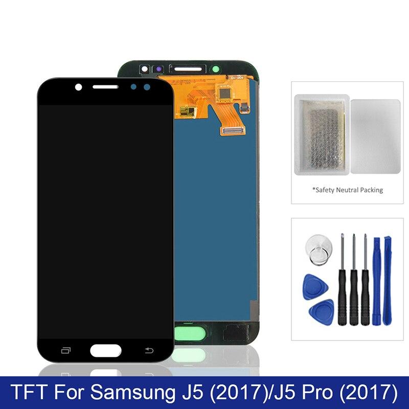 Para samsung galaxy j5 pro 2017 display lcd tela de toque digitador assembléia em sm j530f j 5 2017 530f SM-J530F 100% teste