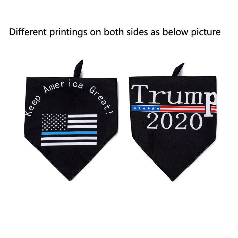 1 unidad de Bandana de perro Trump para mantener a América gran bufanda de cuello para mascotas Baberos de perrito reversibles Bandanas triangulares para perros pequeños medianos a grandes