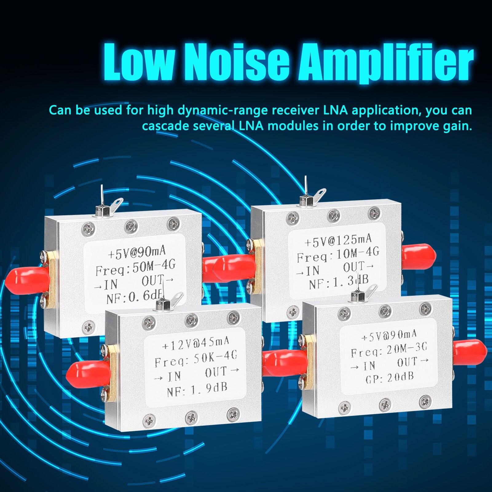 + 5 В @ 90 мА малошумный усилитель радиомодуля LNA 50M-4 ГГц частота NF = 0.6dB RF FM HF VHF / UHF Ham Радио-110 дБм