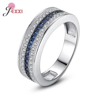 newest authentic 925 sterling silver shinning crystal finger rings for women engagement wedding finger ring statement jewelry