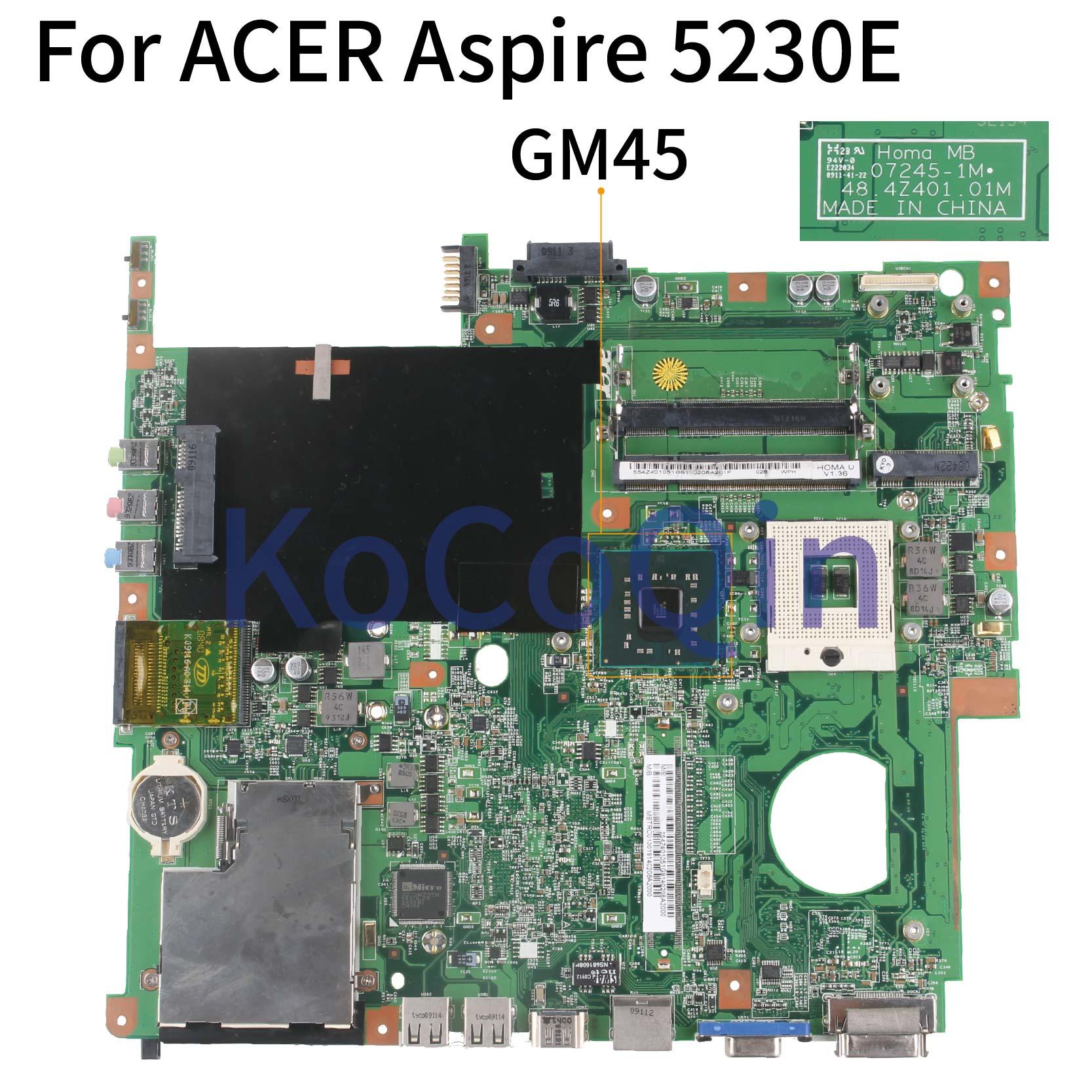 KoCoQin placa base de Computadora Portátil para ACER Aspire 5630 de 5630g...