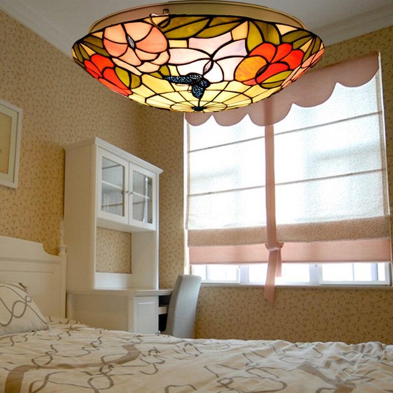 Lámpara de techo LED de 16 pulgadas estilo Pastoral, lámpara de techo...