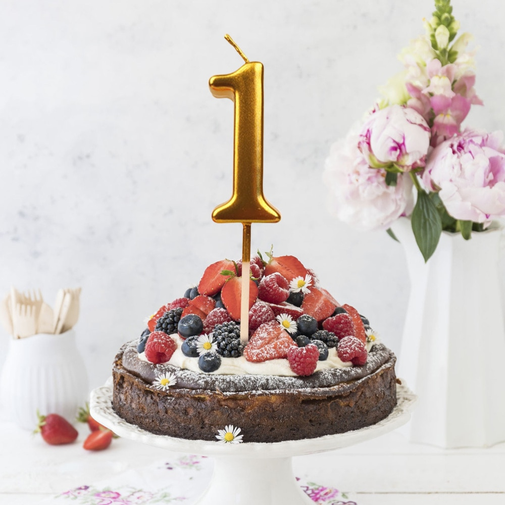 1 vela número 1, vela con purpurina, recuerdos, día dorado, número divertido, velas para tarta, decoración, números, velas para fiesta, cumpleaños, boda