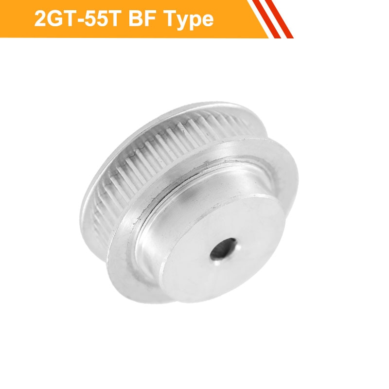 GT2 55T Toothed Wheel Pulley 7mm/11mm Belt Width 2GT Type Gear Belt Pulley 6/6.35/8/10/12/14mm Bore Transmission Pulley